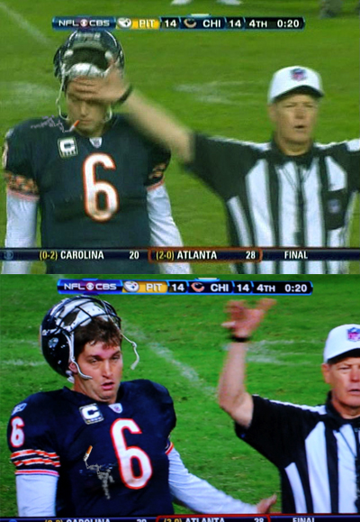 These image of Jay Cutler pretty much sum it up.