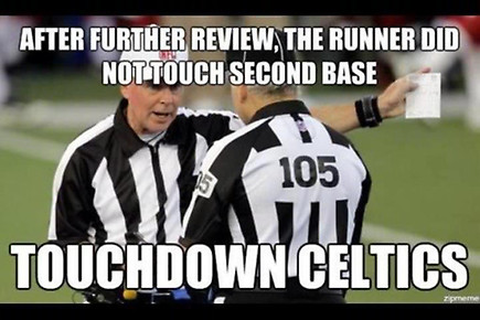 After further review, touchdown celtics!