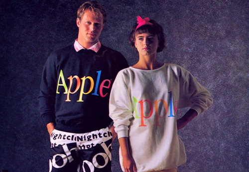 Apple clothing ad, 1986