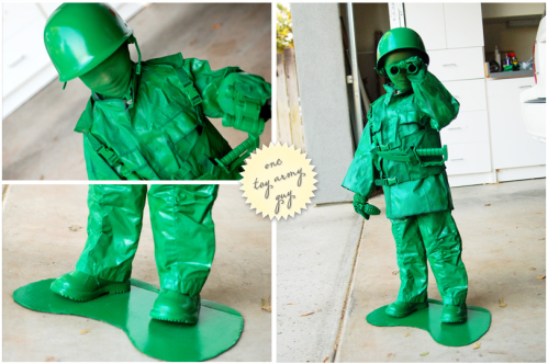 Cool DIY Army Man Toy Halloween Costume