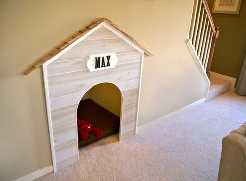 dog house in wall