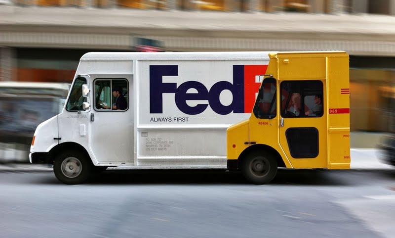 FedEx Truck graphics, DHL