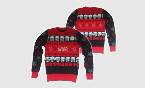 Slayer are selling a Christmas sweater.