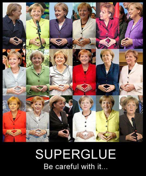 superglue, Angela Merkel