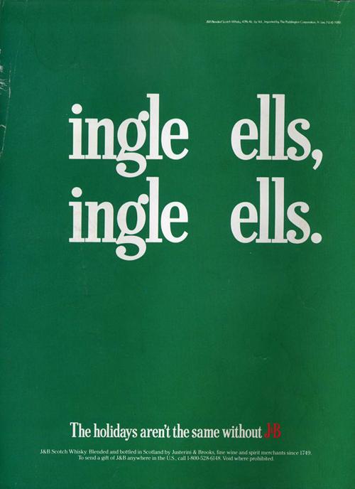 Vintage J&B ad