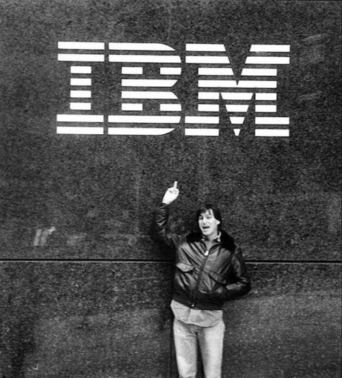 steve jobs, apple, IBM
