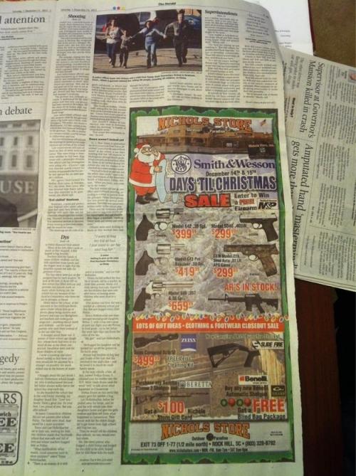 gun ad, rock hill herald