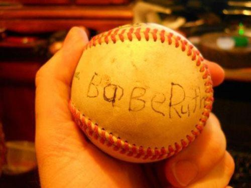 Babe Ruth autograph