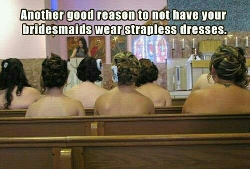 Rethink those strapless bridesmaid dresses