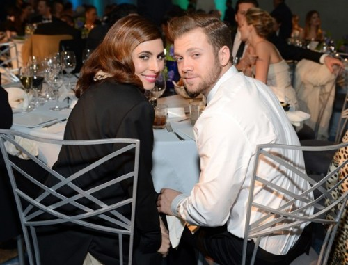 Jamie-Lynn Sigler and Cutter Dykstra at a gala in L.A. this month. (Michael Kovac/Getty Images for Art of Elysium)