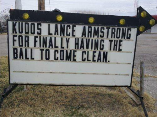 Kudos Lance Armstrong