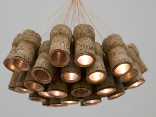 LED Champagne Cork Chandelier