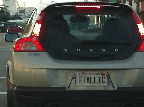 Metallica License Plate