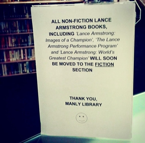 lance armstrong fiction