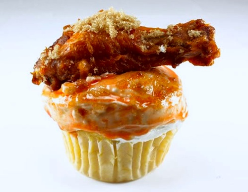 Buffalo Chicken Wing Cupcake