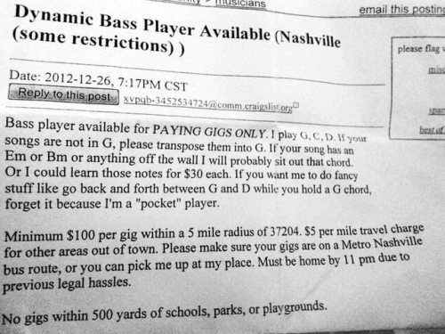 bass player ad