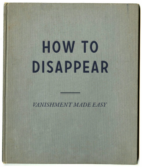 how to disappear books