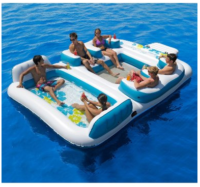 Inflatable Floating Island Duck Duck Gray Duck