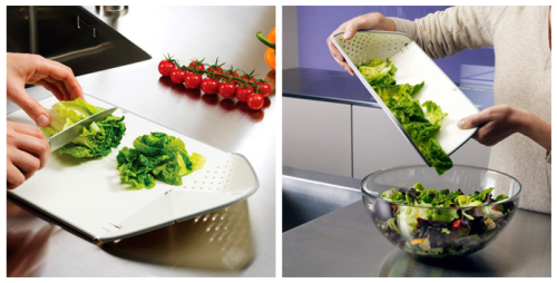 Colander chopping board