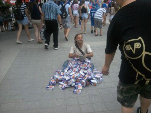 Homeless guy Greatful