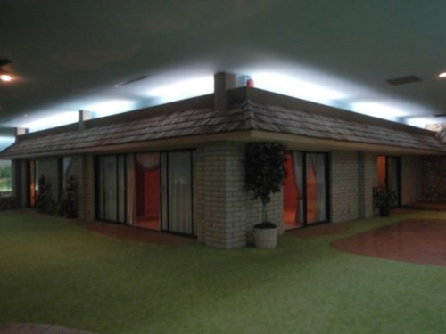 Underground house with yard (fake grass)