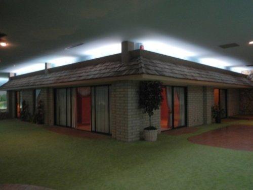 Underground house with yard (fake grass)