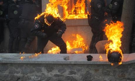 anti-government riots in Kiev