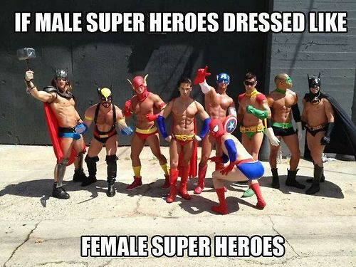 male superheros
