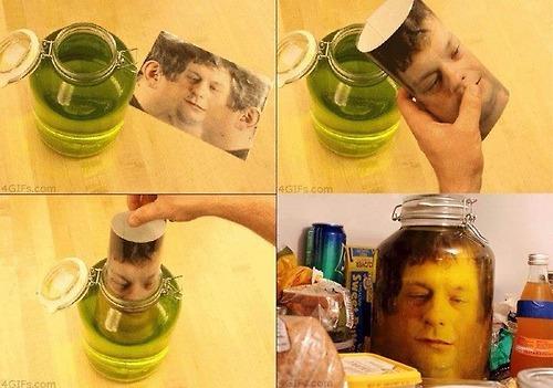 HEad in jar prank