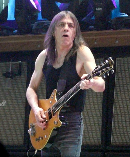 Malcolm Young live with AC/DC on November 23, 2008 in St. Paul, MN PHOTO BY MATT BECKER