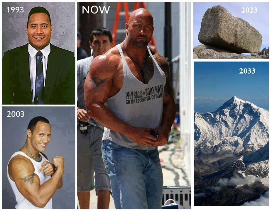 "The progression of ""The Rock"" Dwayne Johnson 