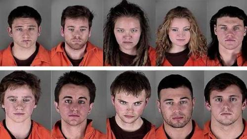 U of MN riot dinkytown arrest photos - mugshots