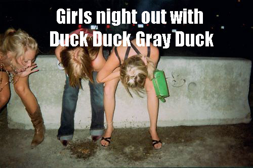 girls puking duck duck