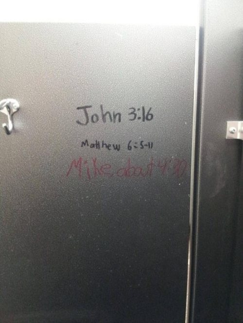bathroom scripture