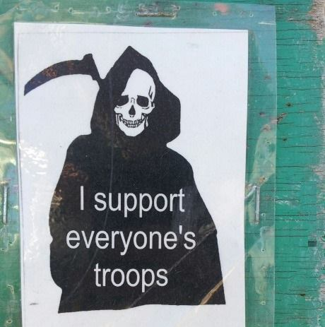 I support troops
