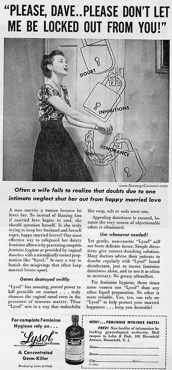 Lysol saving marriages