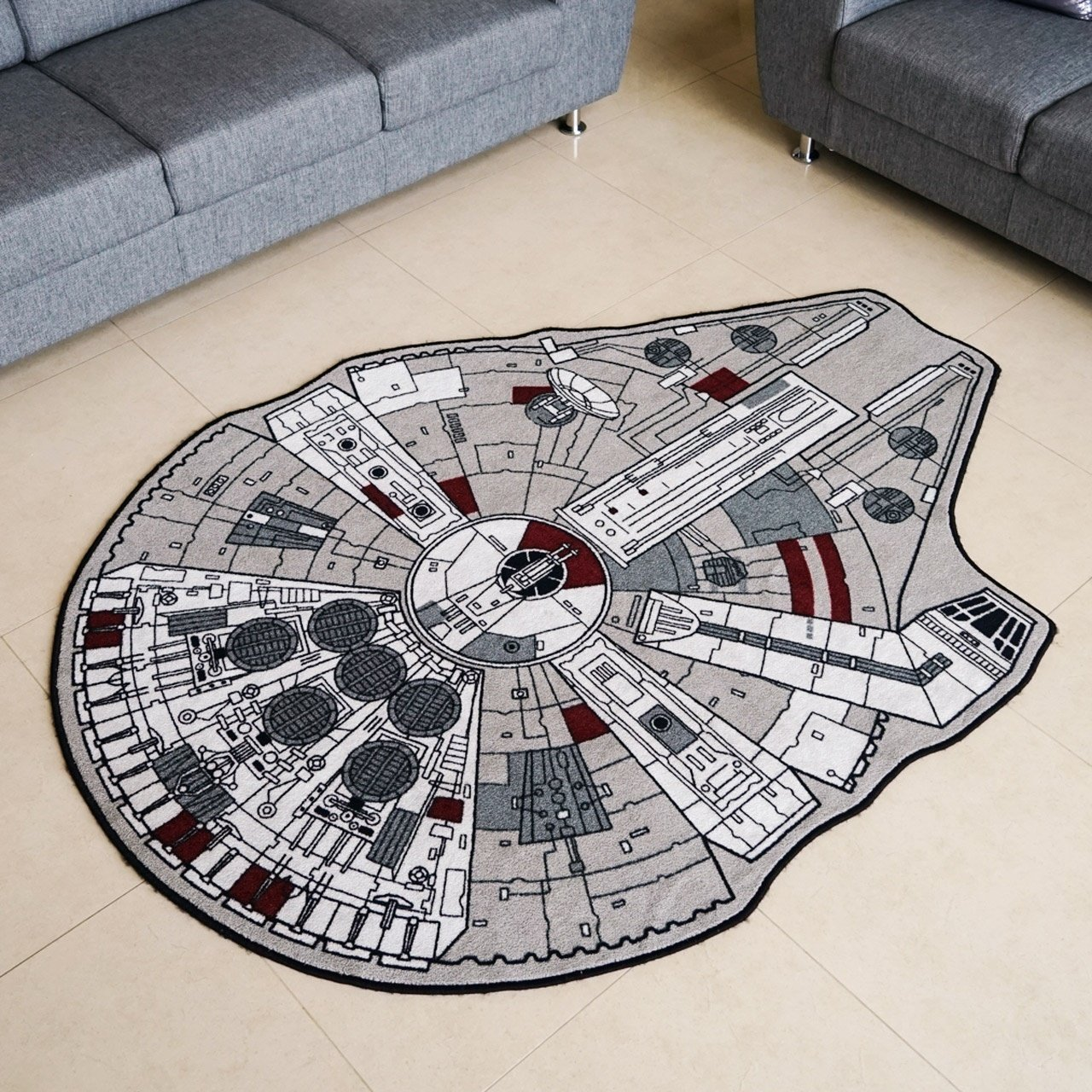 Star Wars Millenium Falcon Rug Duck Duck Gray Duck