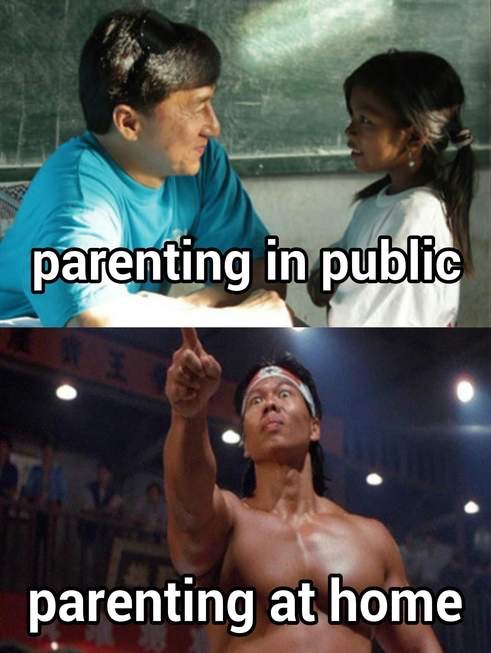 Parenting at home vs in public