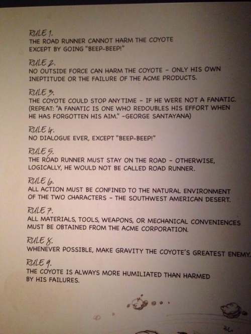 road runner rules