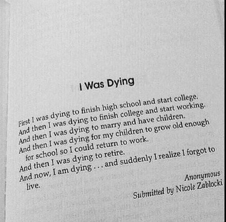 I was dying