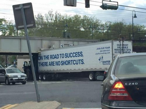 On the road to success, there are no shortcuts.