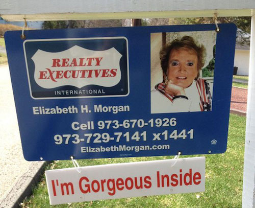 funny realtor signs
