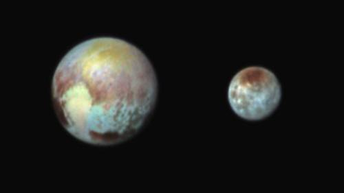 Pluto and its large moon Charon Photo: NASA.com