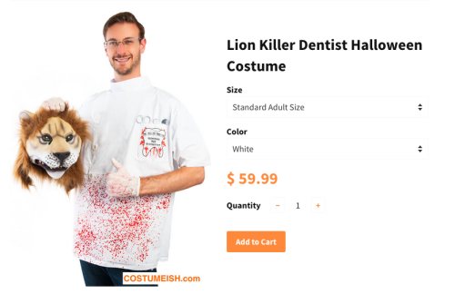 cecil the lion killer costume