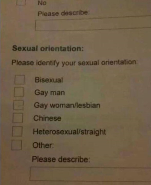 Sexual orientation?