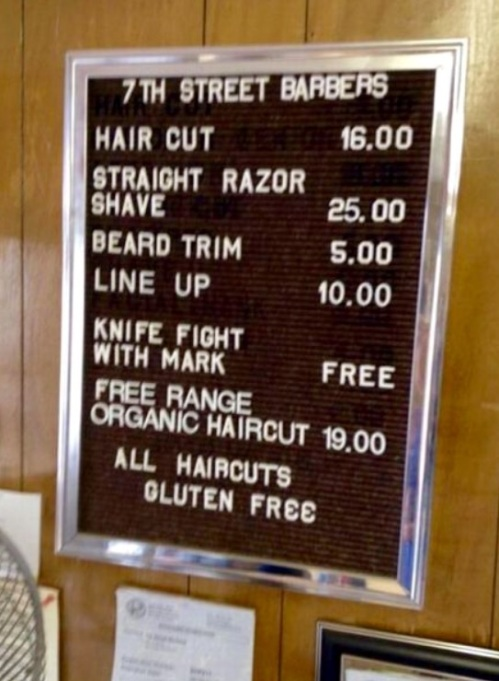 barber prices