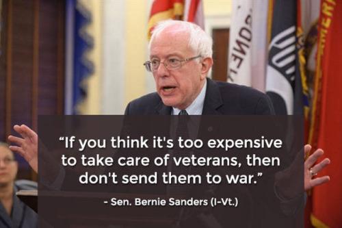 Bernie Sanders on Vets