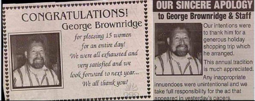 Newspaper ad