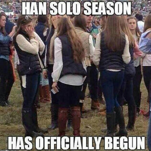Hans Solo season has begun