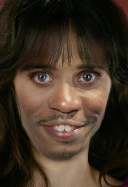 A Zooey Deschanel and Dave Chappelle mash up.